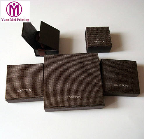 Custom factory make embossing logo jewelry packaging printing fashion packaging paper box
