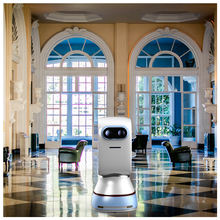 New cheap price restaurant hotel cafe intelligent contactless multi-function self-charging robot mesero food dish delivery robot