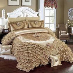 Luxury and romance lace wedding custom princess bedding sets