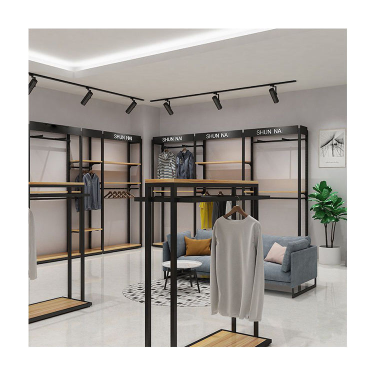 Entire store custom dress stand display racks metal customized color men display stand for clothes shelf for clothes