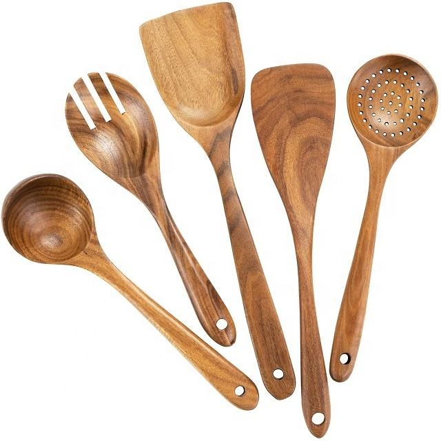 Wholesale Eco-friendly Natural Custom Wooden Spoons / Wooden Salad Spoons