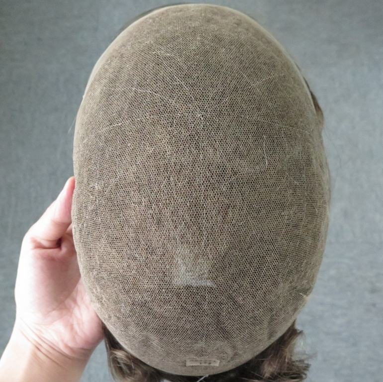 100% human hair full swiss lace man's toupee replacement all lace good breath