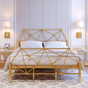 wholesale home bedroom furniture King queen twin/full size Iron metal bed frames