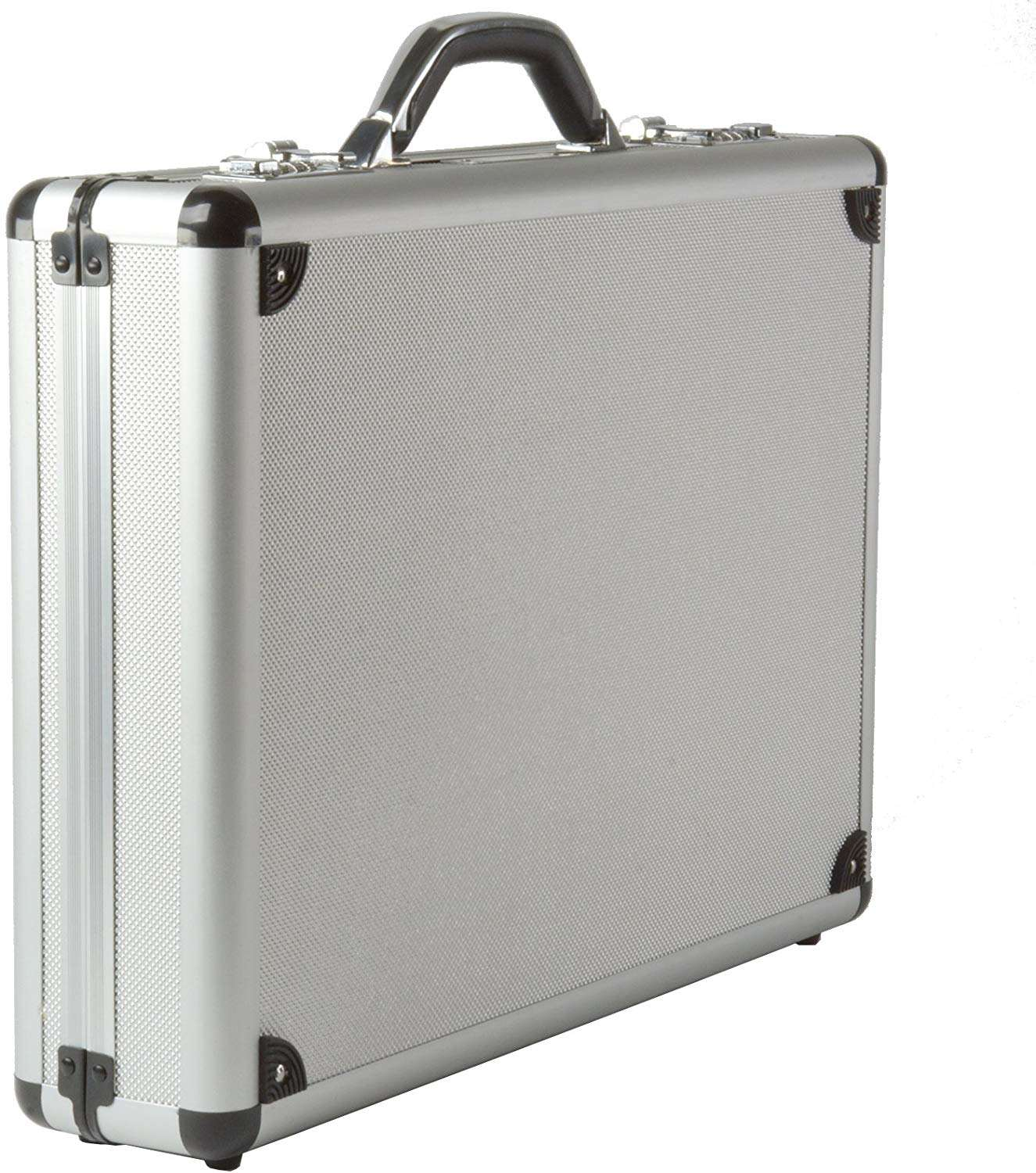 Silver Aluminum Laptop Briefcase Attach Case with Combination Lock