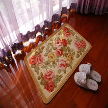Yellow rose washable carpet  non slip mat  print mato  room  carpet  print mat indoor mat room carpet