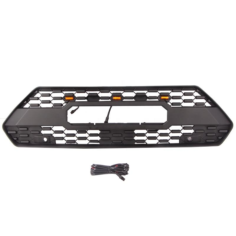Jiangsu Danyang wholesale automotive parts car grills LED lights front upper bumper grill fit for toyota RAV4 2020