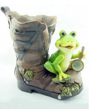 Garden decoration witn Frog shape  Resin garden decoration outside with wholesale price