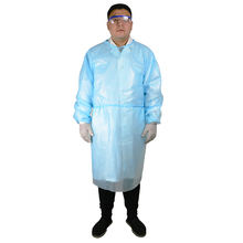 Non-sterile PE robe Disposable non-medical Surgical gown