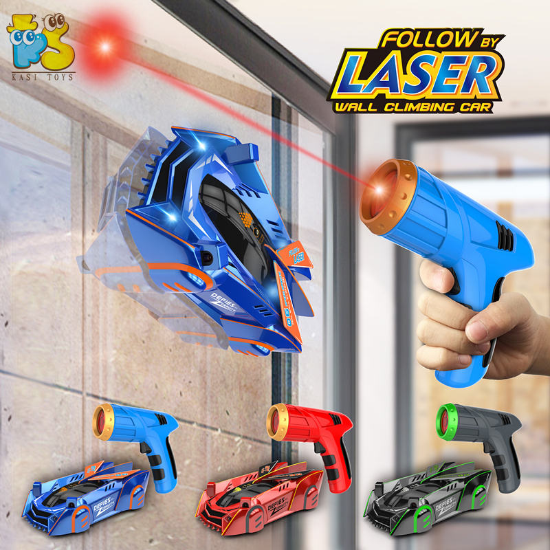 2020 New radio control toy chasing light induction rc infrared laser tracking wall car climber