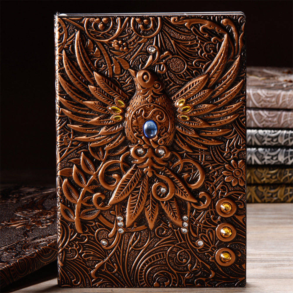 2021 Wholesale Trendy Vintage A5 PU Leather Undated Diary Journals Travel Agenda Notebooks