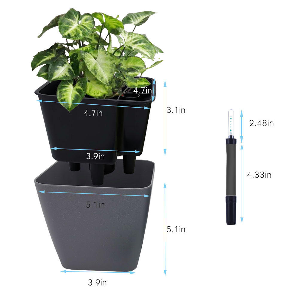 2020 Hot Selling Planter GreenSun Self Watering Planter,Plant Pot,Cheap Plastic Flower Pot For Home and Garden