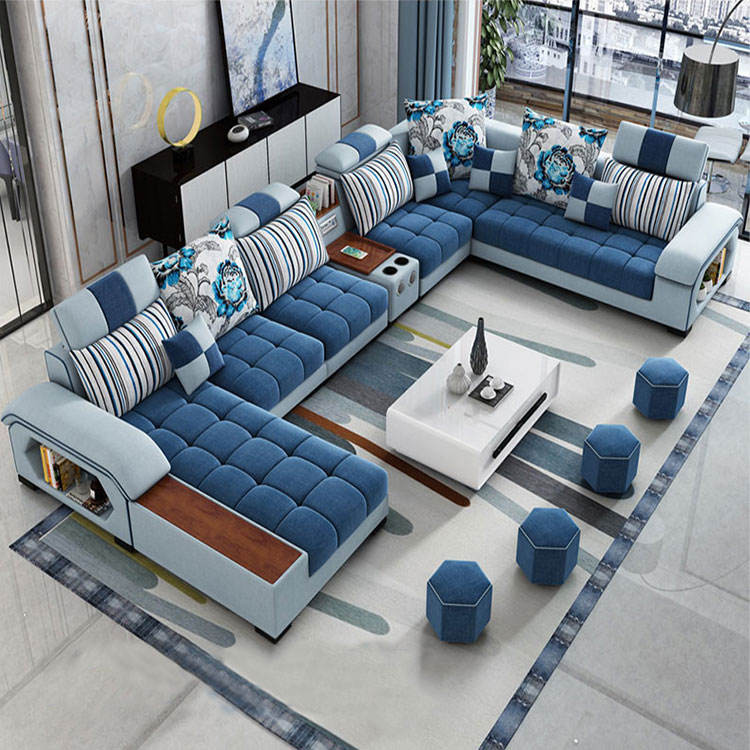 modern sofas sectionals & loveseats living room furniture fabric sofa set 7 seater sectional sofa