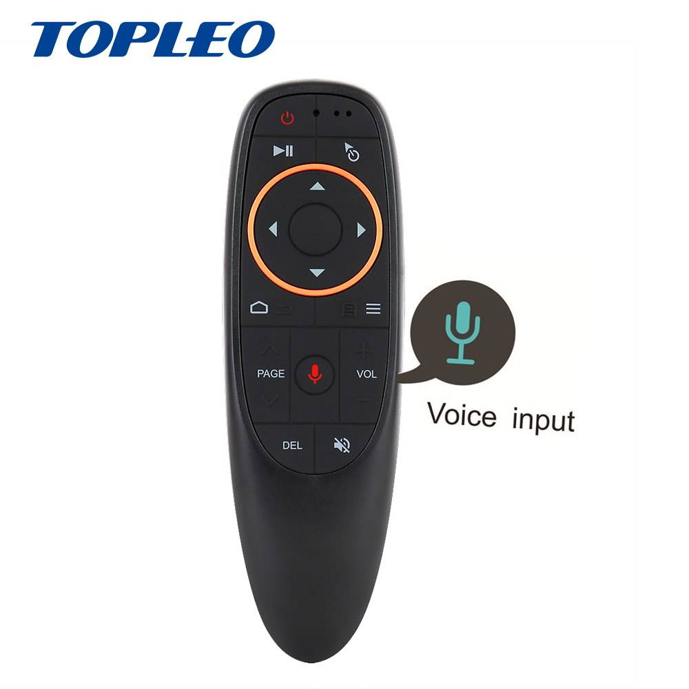 Popular G10 6 axes move freely Google voice search universal tv remote control with built in speakers