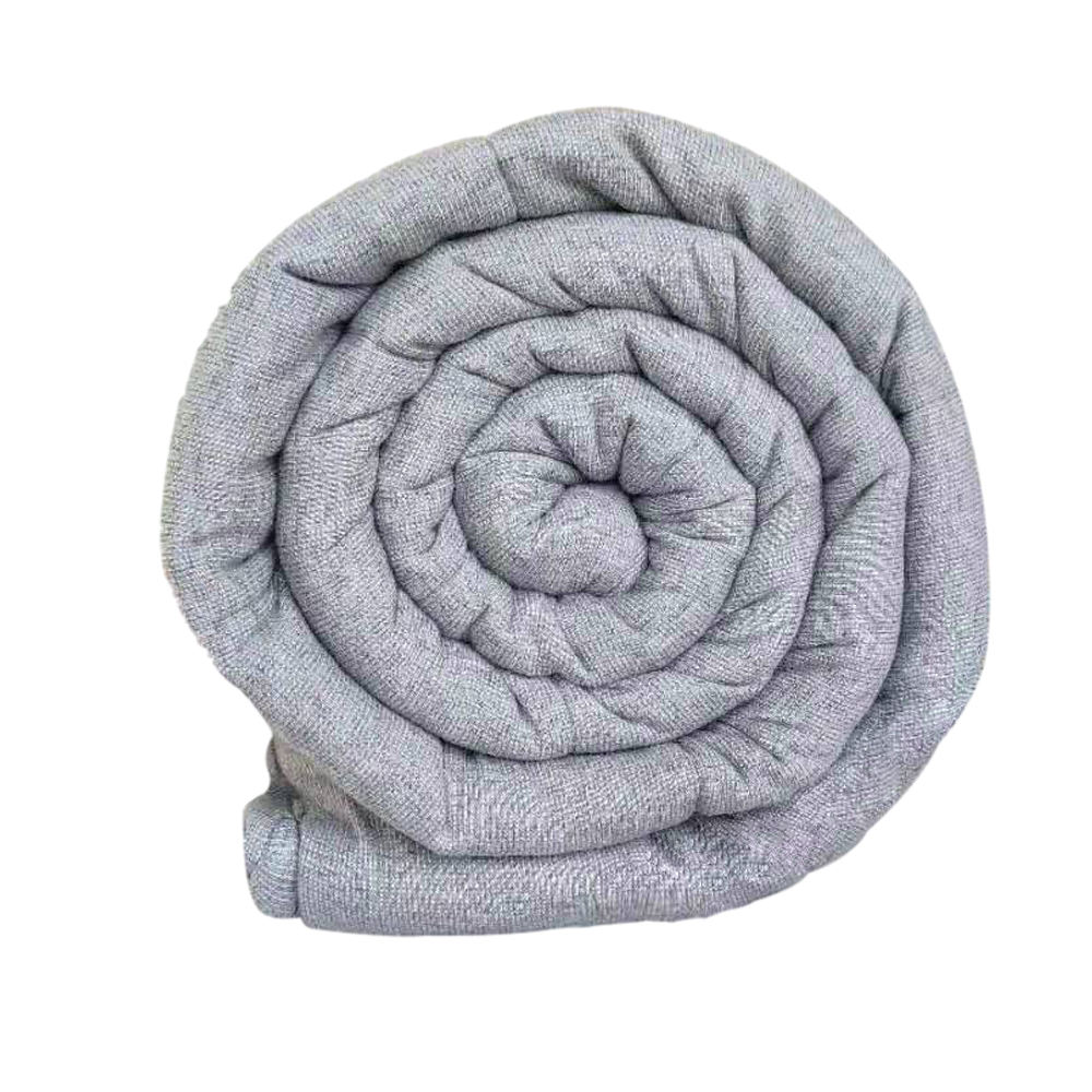 Premium Organic Cotton Front Sherpa Back Side Winter Super Warm Gravity Glass Beads Weighted Blanket