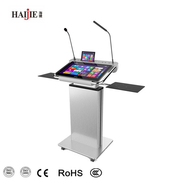 Educational Supplies Classroom Standing Multimedia Lectern Digital Smart Podium