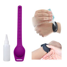 Outdoor Activities Wearable Silicone bracelet Hand Sanitizer Dispenser Wristband with bottle