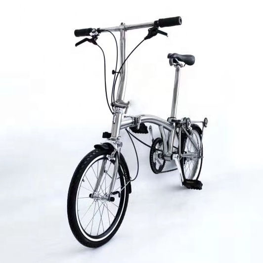 Best Selling Excellent Quality Ultralight Titanium Folding Bicycle For Brompton 16''