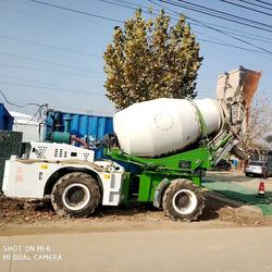 second  hand 3m3 self loading automatic used mobile potable  concrete mixer