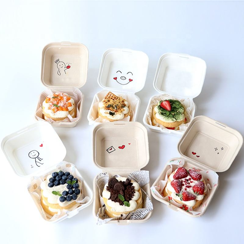 Disposable fast food takeaway package paper packaging fruit salad packing burger box