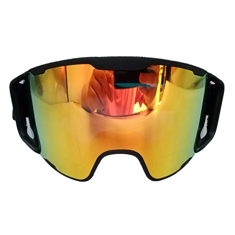 Custom OTG black frame double anti fogging ski goggles