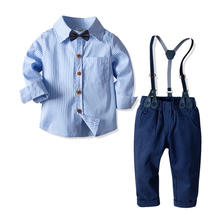 Factory Wholesale Boutique Children Clothes  1-7Y Wear Red Long Sleeves Shirts + Pants  2pcs A Set 20V011