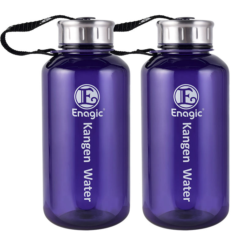 BPA free cheap custom clear purple 1000ml alkaline kangen wide mouth plastic water bottle for drinking