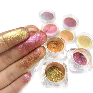 Kolortek duochrome chameleon eyeshadow pigment private label single loose eyeshadow cosmetics makeup