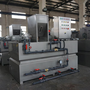 automatic polymer powder preparation and feeding equipment system with floc tank of etp water wastewater chemical dosing