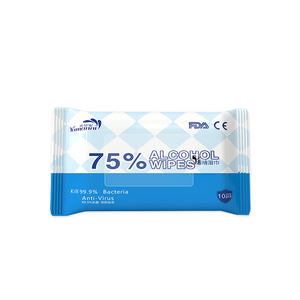 FDA 75% acohol disinfecting wipe to kill bacterial