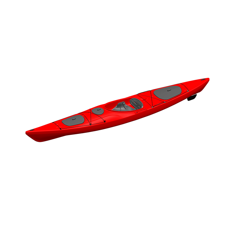 2018 new design customized rigid blow molding sit in kayak in ocean