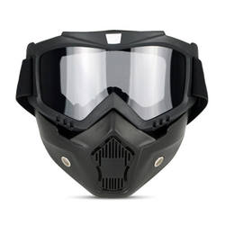 Removable Winter Snow Sports Motorcycle Shark Helmet Windproof Mascara De Gafas De Casco Mask Shield for Outdoor Sport