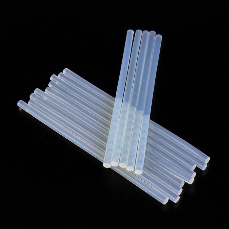 7mm 11mm Solid Plastic Eva Transparent Hot Melt clear Glue Sticks silicone crystal clear hot melt glue stick