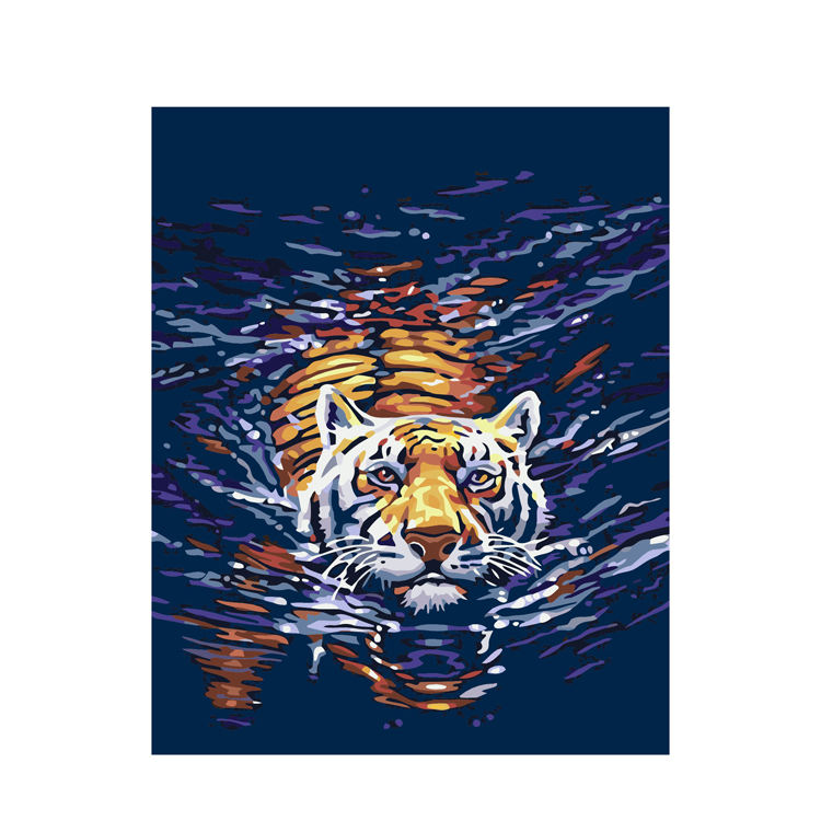 animal design Realistic Diy Tiger Fine Art Wild Animal painting by numbers