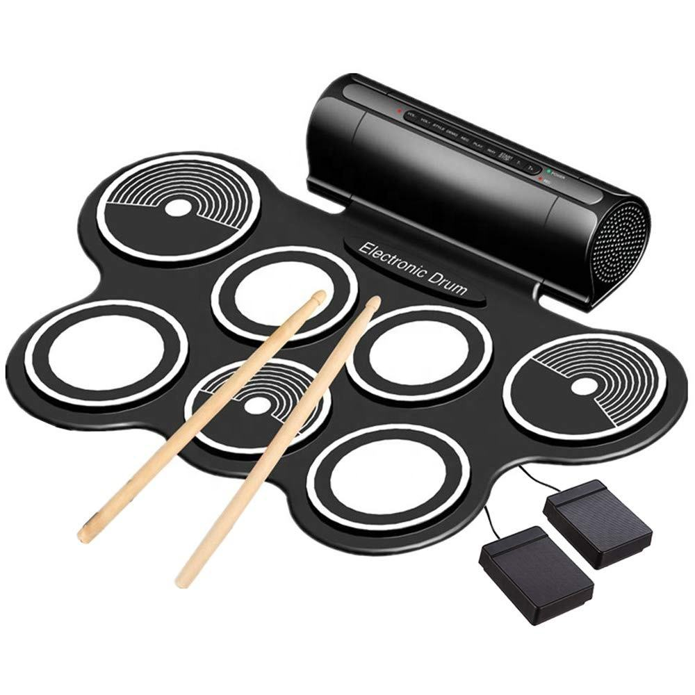 Electronic Drum Set 9 Midi Latihan Drum Bantalan bluetooth Portable Roll Up Electric Drum Kit untuk Anak-anak atau Pemula OEM/ODM