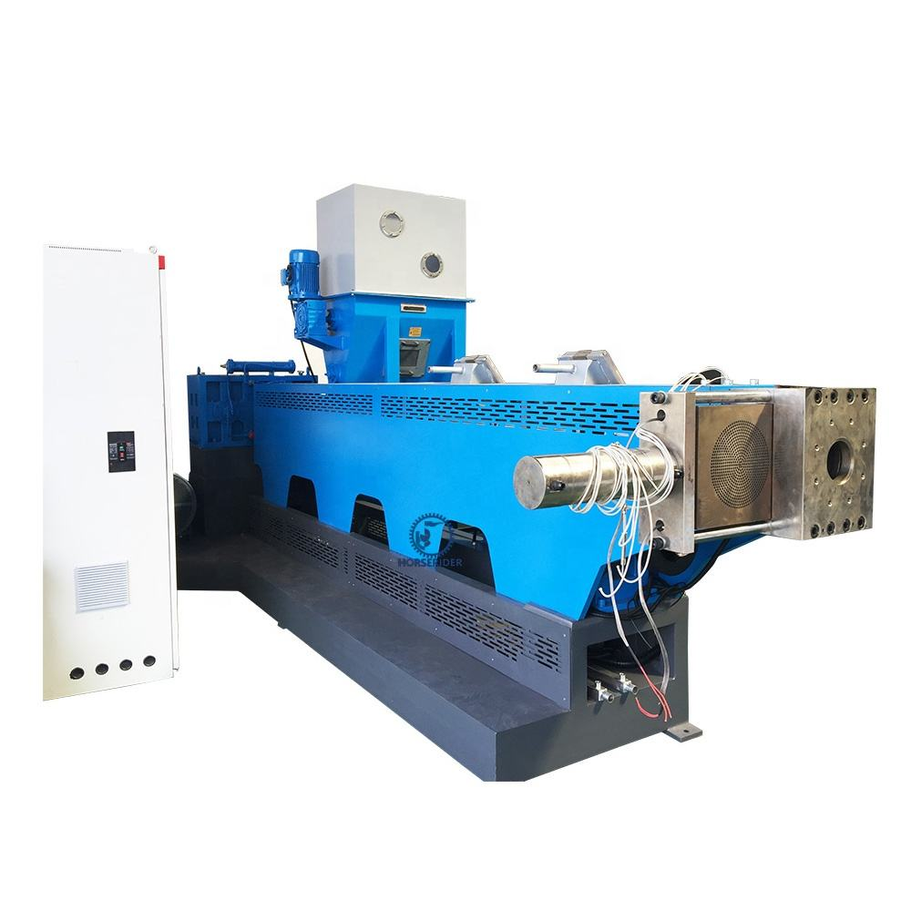 PP PE waste soft plastic recycling production line/plastic pellets granules making machine
