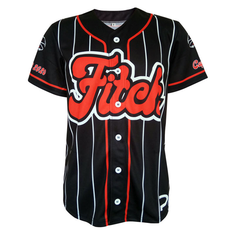 Jerseys Men Baseball Jersey Stripe White Black Drop Shipping Street Hiphop Baseball Tops Sport T Shirts