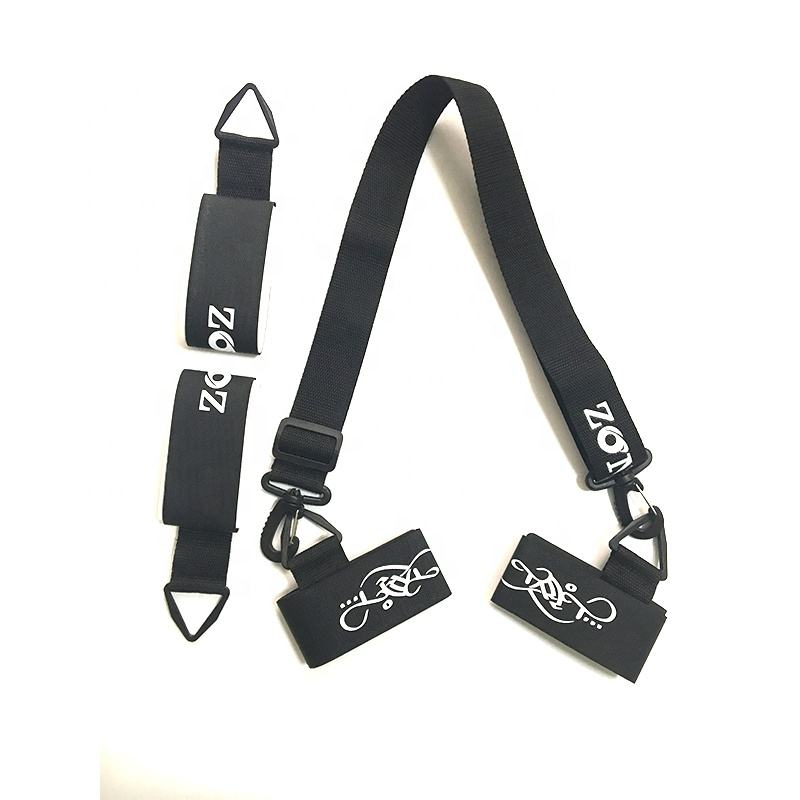 Outdoor Ski and Pole Carrier Strap for Carrying Snowboard