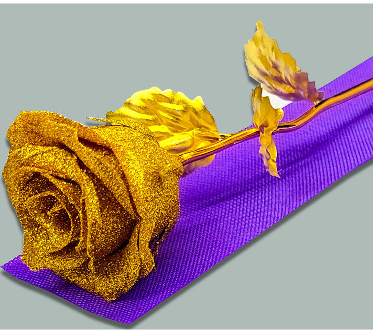 Hot Sale 24k Gold Plated Rose Eternal Roses Beautiful 24K Gold Dipped Preserved Rose Flower For Girlfriend