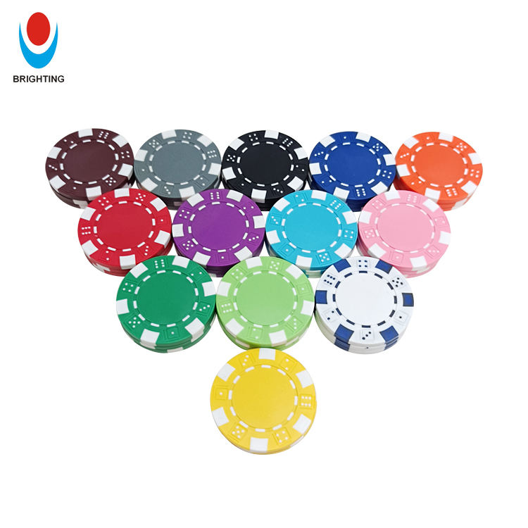 ABS 11.5g In Stock Gambling Game Custom Printing Blank Casino Royal Poker Chips
