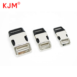 KJM Strong Pull Quick Side Release Metal Buckle for Dog Collar
