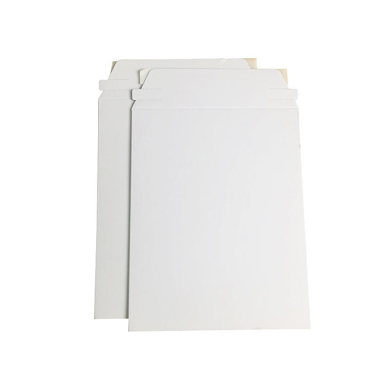 Cheap Stay Flat Mailers Rigid white Cardboard Mailer Envelope