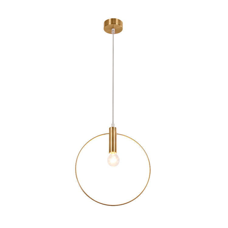 New design northern europe type simple modern copper ring led chandelier pendant light
