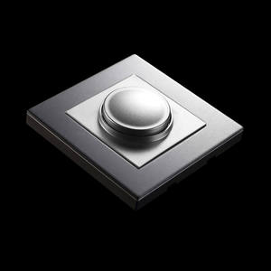 GRAY color stainless steel plate 86mm wall switch light dimmer only for dimmable led light