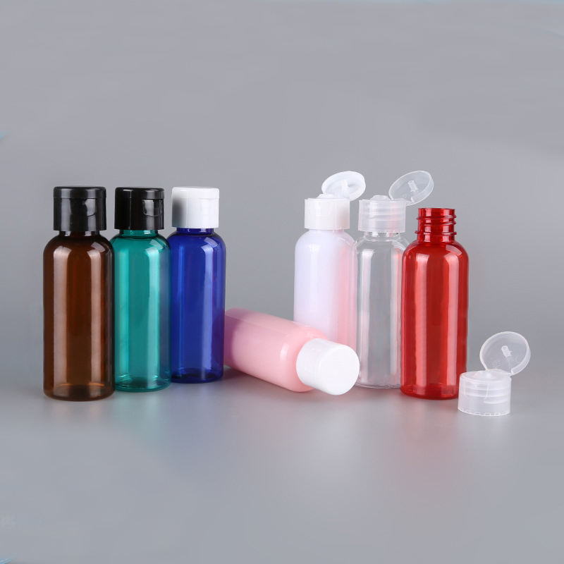 clear plastic 50ml 100ml 200ml 250ml empty PET lotion bottle plastic shampoo bottle plastic bottle for toner with flip cap