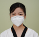 Model A Disposable face mask folding headband KN95 medical protective mask