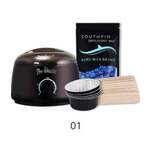 Safe home hot wax machine black bowls smudge stick body depilatory wax hair removal wax kit