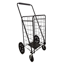80KGS Factory Customized Portable Folding Steel Wire Shopping Cart For Supermarket