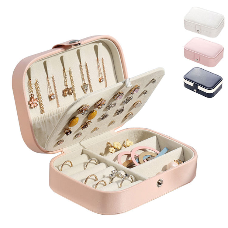 Velvet Box for Jewelry joyero boite a bijoux Earring Ring Necklace Storage Organizer Container PU Leather Jewellery Boxes