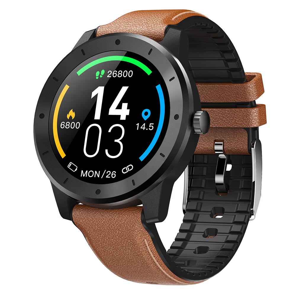 2020 Novo GPS relógio inteligente GPS à prova d' água rodada completa & touch IP68 smartwatch à prova d' água esporte monitor de freqüência cardíaca com gps para huawei