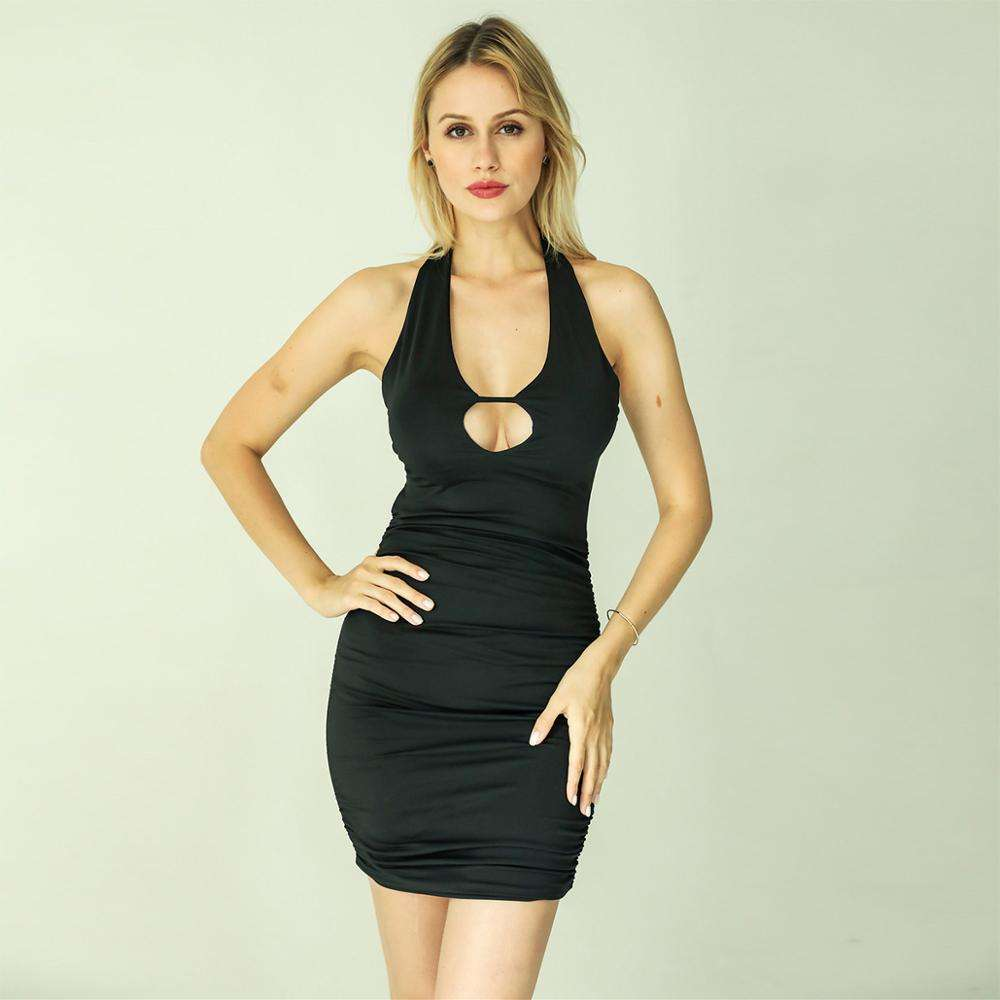 Halter neck ladies hot tube dresses sexy clubwear plus size